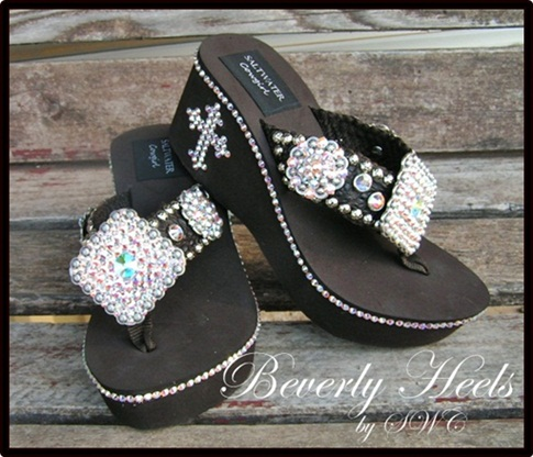 Beverly Heels Brown Cowgirl Flip Flops
