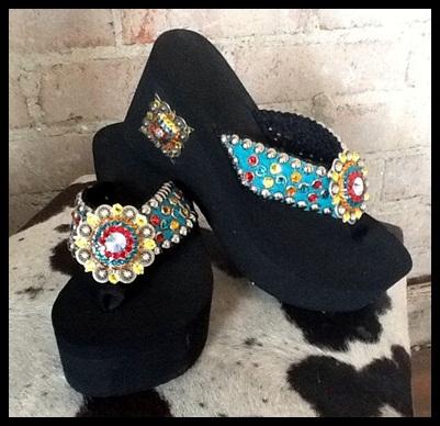 Cancun Cowgirl Flip Flops
