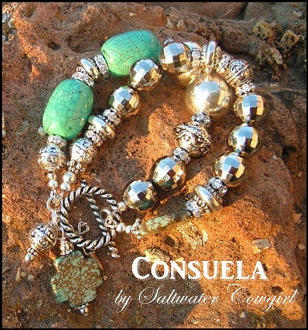 Consuela Turquoise and Silver Southern Cowgirl Bracelet-cowgirl jewelry,cowgirl pearls, bling,concho pendant,modern cowgirl, funky cowgirl,custom cowgirl,sassy,cowgirl jewels,funky chunky cowgirl jewelry,chunky cowgirl jewelry,chunky cowgirl jewels,cowhide pendants,concho pendants,cowhide flip flops,cowgirl cowhide flip flops,cowgirl jewel,cowgirl jewels,wholesale cowhide flip flops,wholesale cowgirl flip flops,concho cowgirl jewelry,wholesale cowgirl jewels,wholesale cowgirl jewelry,rodeo,barrel racer,western jewelry,western flair,cowgirl junkie,cowgirl gypsy,cowgirl gypsie,soule,sassy cowgirl,rodeo cowgirl,custom cowgirl jewels,custom cowgirl jewelry,custom cowgirl flip flops,handmade cowgirl jewelry,handmade cowgirl jewels,handmade cowgirl flip flops,funky chunky cowgirl jewels,funky chunky cowgirl,gypsy soule,cowgirl soul,wholesale chunky jewelry,cowgirl jewels,hand made jewelry,custom jewelry