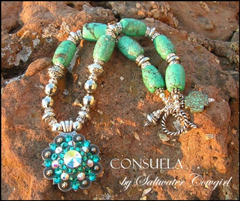 Consuela Turquoise and Silver Cowgirl Concho Necklace-cowgirl jewelry,cowgirl pearls, bling,concho pendant,modern cowgirl, funky cowgirl,custom cowgirl,sassy,cowgirl jewels,funky chunky cowgirl jewelry,chunky cowgirl jewelry,chunky cowgirl jewels,cowhide pendants,concho pendants,cowhide flip flops,cowgirl cowhide flip flops,cowgirl jewel,cowgirl jewels,wholesale cowhide flip flops,wholesale cowgirl flip flops,concho cowgirl jewelry,wholesale cowgirl jewels,wholesale cowgirl jewelry,rodeo,barrel racer,western jewelry,western flair,cowgirl junkie,cowgirl gypsy,cowgirl gypsie,soule,sassy cowgirl,rodeo cowgirl,custom cowgirl jewels,custom cowgirl jewelry,custom cowgirl flip flops,handmade cowgirl jewelry,handmade cowgirl jewels,handmade cowgirl flip flops,funky chunky cowgirl jewels,funky chunky cowgirl,gypsy soule,cowgirl soul,wholesale chunky jewelry,cowgirl jewels,hand made jewelry,custom cowgirl jewelry,gypsy cowgirl,wholesale custom gypsy cowgirl jewelry