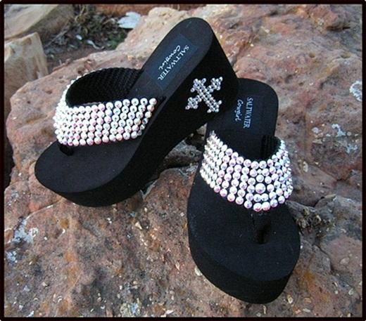 Diamond Lil Swarovski Flip Flops
