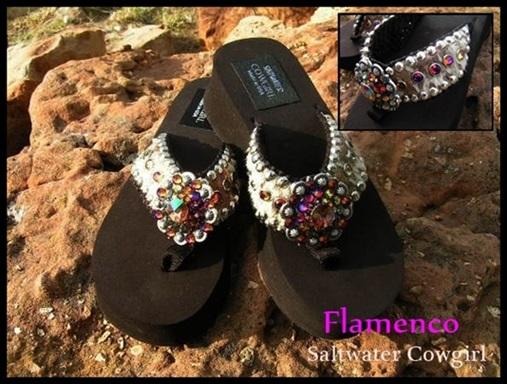 Flamenco Acid Washed Hand Made Flip Flops