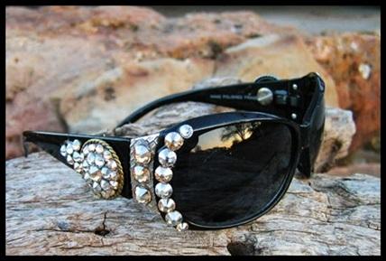Silver & Gold Swarovski Sunglasses