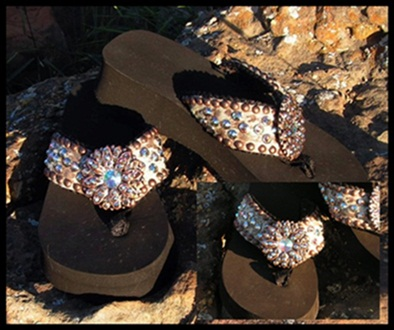 Hollie Cowhide Flip Flops