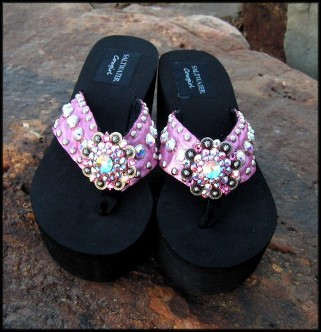 Paris Bling Flip Flops