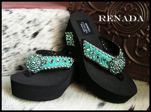 Renada Cowgirl Flip Flops