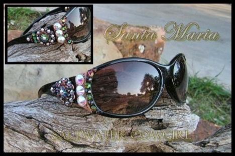 Santa Maria Swarovski Cowgirl Sunglasses