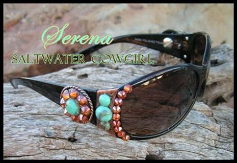 Serena Swarovski Turquoise Sun Glasses