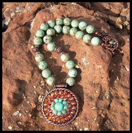 Serena Turquoise and Copper Necklace
