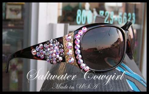 Brown Swarovski Custom Cowgirl Sunglasses
