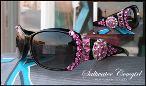 Hot Pink Swarovski Cowgirl Sunglasses