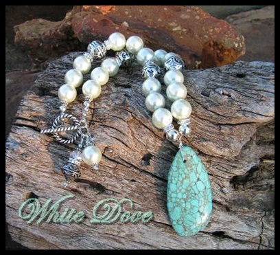 White Dove Turquoise and Pearl Necklace-cowgirl jewelry,cowgirl pearls, bling,concho pendant,modern cowgirl, funky cowgirl,custom cowgirl,sassy,cowgirl jewels,funky chunky cowgirl jewelry,chunky cowgirl jewelry,chunky cowgirl jewels,cowhide pendants,concho pendants,cowhide flip flops,cowgirl cowhide flip flops,cowgirl jewel,cowgirl jewels,wholesale cowhide flip flops,wholesale cowgirl flip flops,concho cowgirl jewelry,wholesale cowgirl jewels,wholesale cowgirl jewelry,rodeo,barrel racer,western jewelry,western flair,cowgirl junkie,cowgirl gypsy,cowgirl gypsie,soule,sassy cowgirl,rodeo cowgirl,custom cowgirl jewels,custom cowgirl jewelry,custom cowgirl flip flops,handmade cowgirl jewelry,handmade cowgirl jewels,handmade cowgirl flip flops,funky chunky cowgirl jewels,funky chunky cowgirl,gypsy soule,cowgirl soul,wholesale chunky jewelry,cowgirl jewels,hand made jewelry,custom cowgirl jewelry,gypsy cowgirl,wholesale custom gypsy cowgirl jewelry,wholesale chunky funky cowgirl jewelry